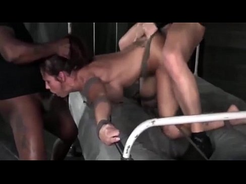 Black woman tied and fucked