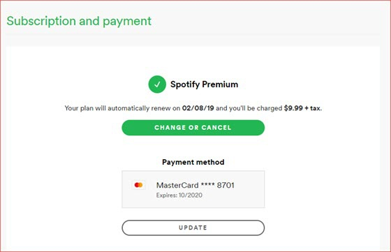 How to renew your spotify premium