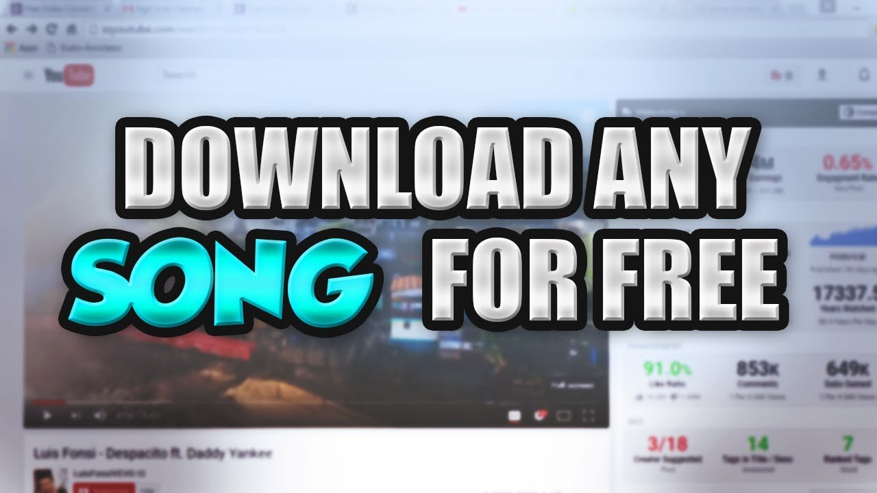 How to download a song to youtube