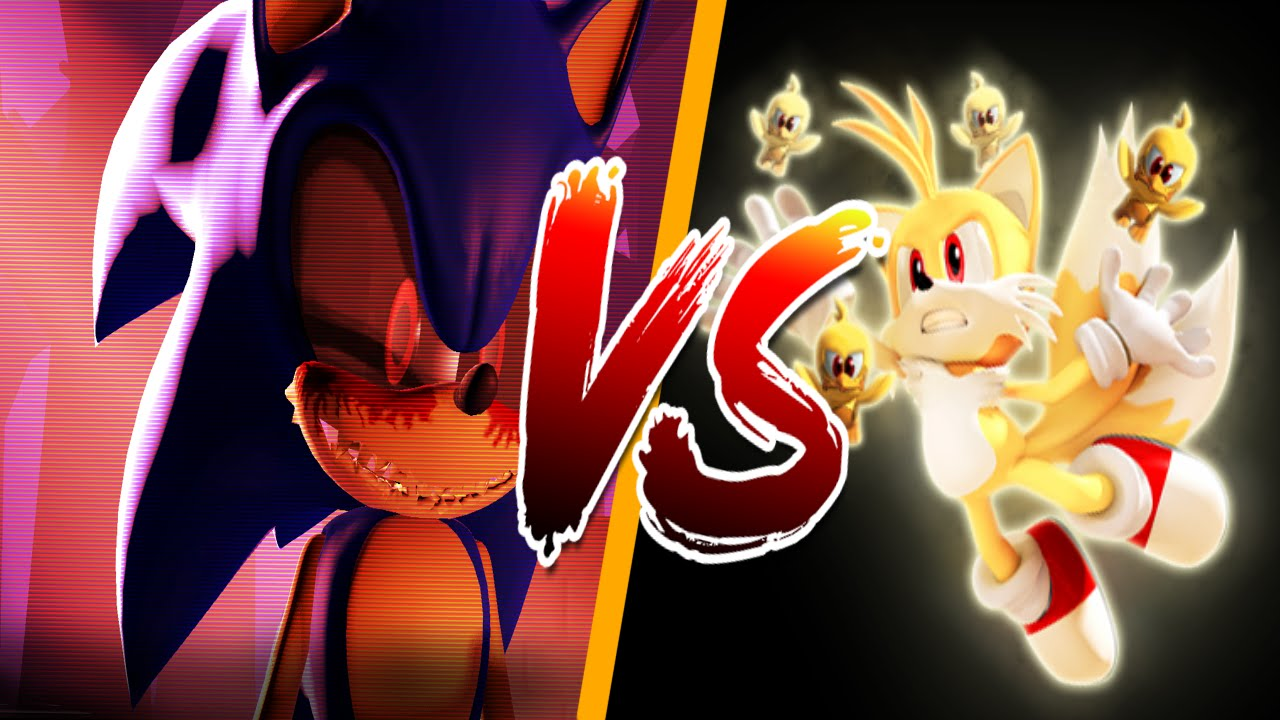 Tails exe vs sonic