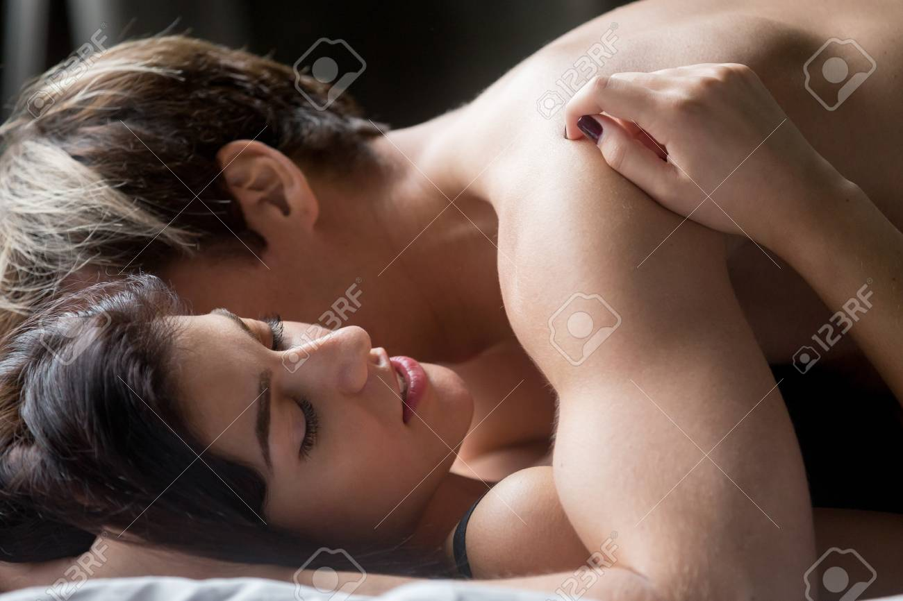 Nude sexy man and woman lovemaking