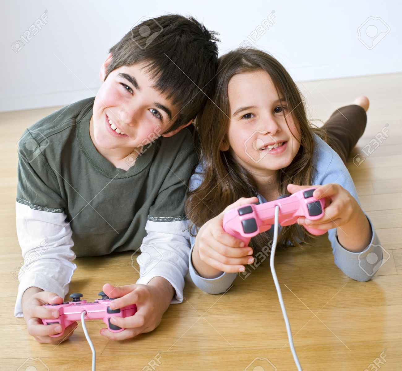Young boy and girl together